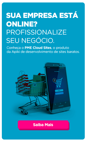 Banner publicitário do PME Cloud Sites, o produto de sites baratos em WordPress da Apiki
